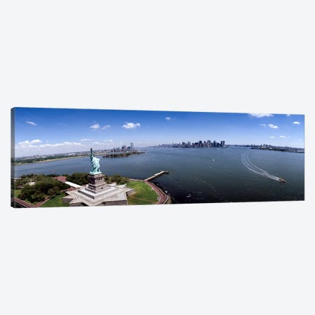 Aerial view of a statue, Statue of Liberty, New York City, New York State, USA Canvas Print #PIM4949} by Panoramic Images Canvas Wall Art