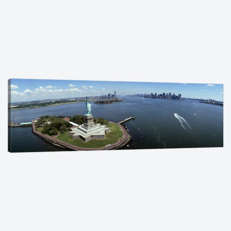 Aerial view of a statue, Statue of Liberty, New York City, New York State, USA #2 Canvas Print #PIM4950} by Panoramic Images Canvas Print
