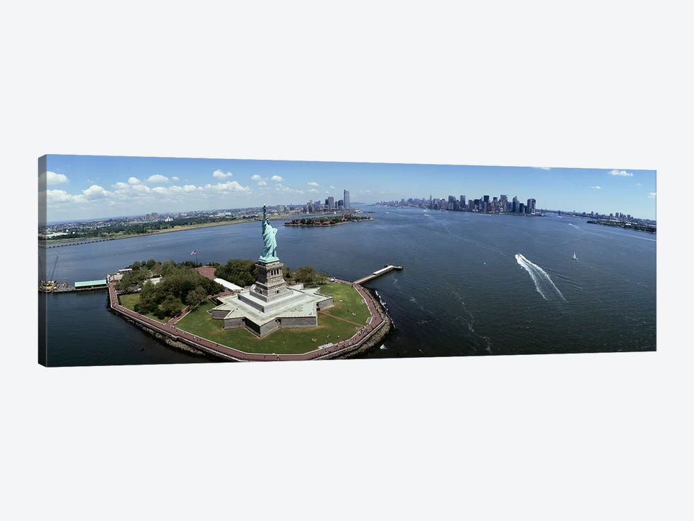 Aerial view of a statue, Statue of Liberty, New York City, New York State, USA #2 by Panoramic Images 1-piece Canvas Print