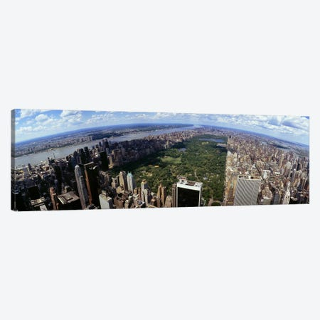 Aerial view of buildings in a city, Manhattan, New York City, New York State, USA Canvas Print #PIM4951} by Panoramic Images Canvas Print