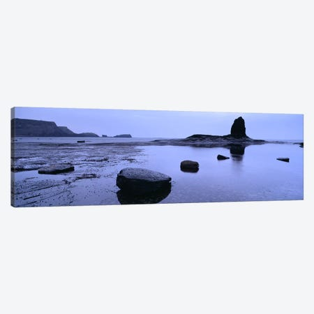 Distant View Of Saltwick Nab With Black Nab In The Foreground, North Yorkshire, England, United Kingdom Canvas Print #PIM4953} by Panoramic Images Art Print