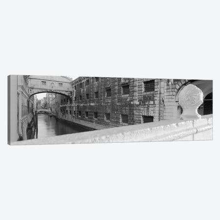 Bridge Of Sighs In B&W, Rio de la Canonica, Venice, Italy Canvas Print #PIM4954} by Panoramic Images Canvas Artwork