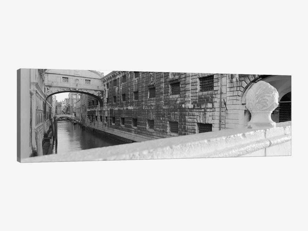 Bridge Of Sighs In B&W, Rio de la Canonica, Venice, Italy 1-piece Art Print