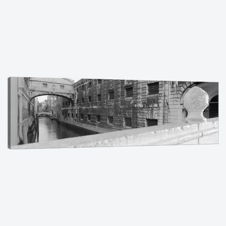 Bridge Of Sighs In B&W, Rio de la Canonica, Venice, Italy Canvas Print #PIM4954} by Panoramic Images Canvas Artwork