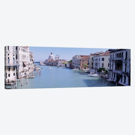 Buildings Along A Canal, Santa Maria Della Salute, Venice, Italy Canvas Print #PIM4955} by Panoramic Images Canvas Wall Art
