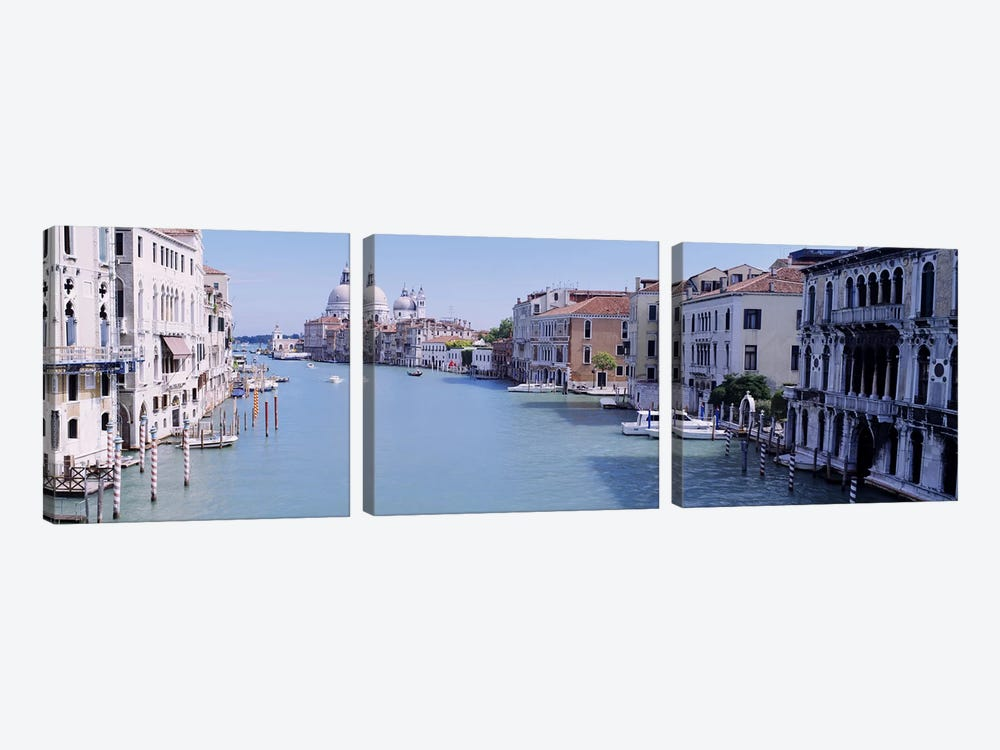 Buildings Along A Canal, Santa Maria Della Salute, Venice, Italy by Panoramic Images 3-piece Canvas Artwork