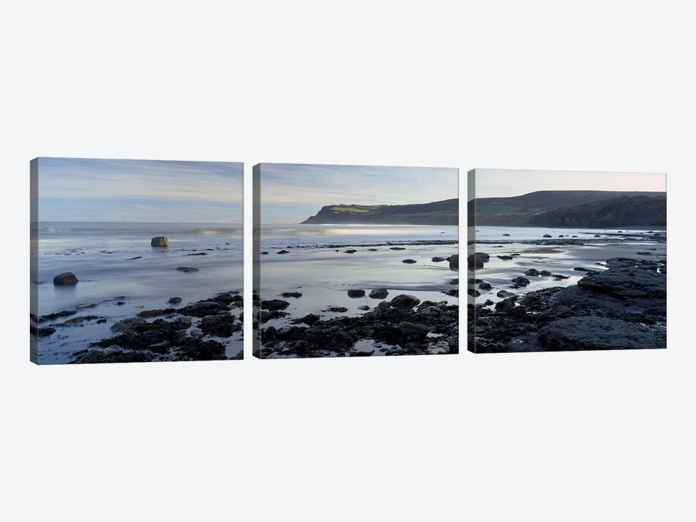 Coastal Landscape, Robin Hood's Bay, North Yorkshire, England, United Kingdom by Panoramic Images 3-piece Art Print