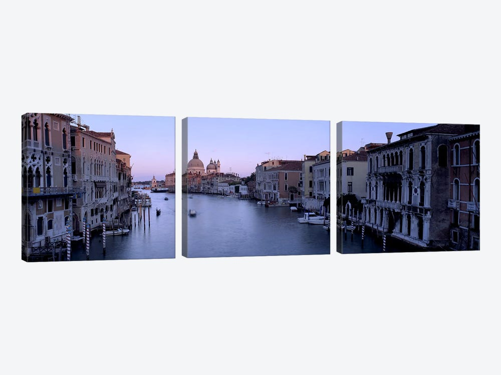 Buildings Along A Canal, Santa Maria Della Salute, Venice, Italy #2 3-piece Canvas Art