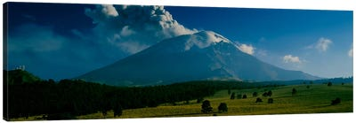 Ash Cloud Over Popocatepetl As Seen From Paso de Cortes, Mexico Canvas Art Print