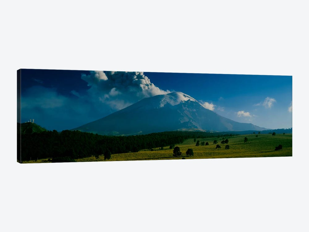Ash Cloud Over Popocatepetl As Seen From Paso de Cortes, Mexico by Panoramic Images 1-piece Canvas Print