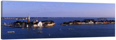 High Angle View Of Buildings Surrounded By Water, San Giorgio Maggiore, Venice, Italy Canvas Art Print