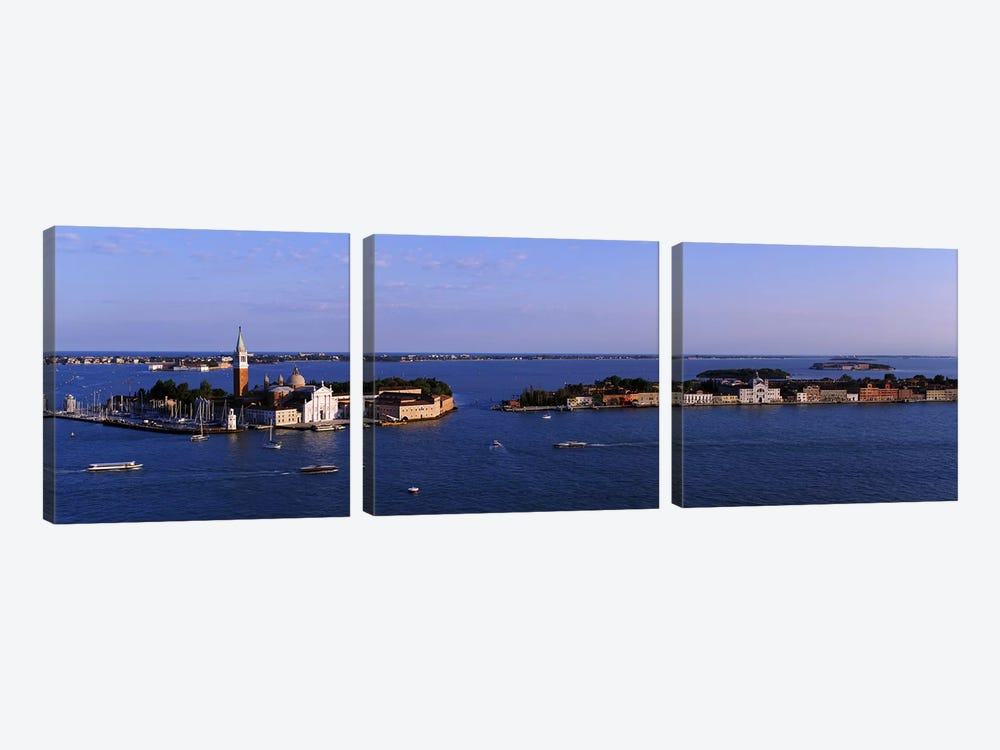 High Angle View Of Buildings Surrounded By Water, San Giorgio Maggiore, Venice, Italy by Panoramic Images 3-piece Canvas Artwork