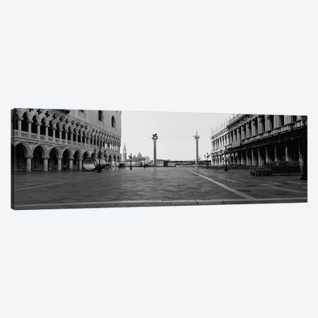 Piazzetta di San Marco In B&W, Venice, Italy 3-Piece Canvas #PIM4961} by Panoramic Images Canvas Artwork