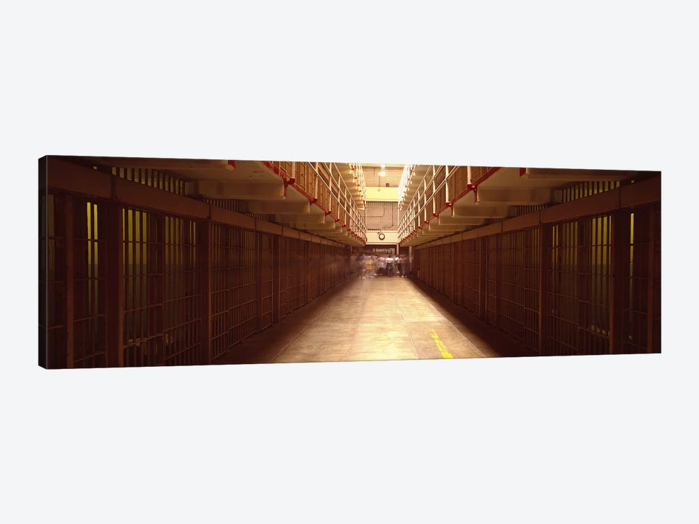 Cell Block In A Prison, Alcatraz Island, San Francisco, California, USA by Panoramic Images 1-piece Canvas Art