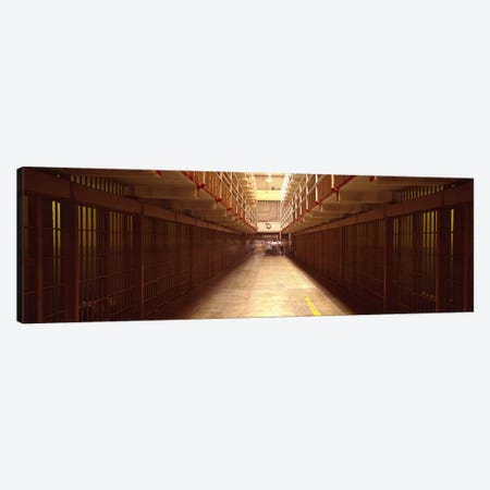 Cell Block In A Prison, Alcatraz Island, San Francisco, California, USA 3-Piece Canvas #PIM4964} by Panoramic Images Canvas Art Print