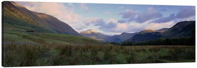 Narrow Valley Landscape, Glen Nevis, Highlands, Scotland, United Kingdom Canvas Art Print