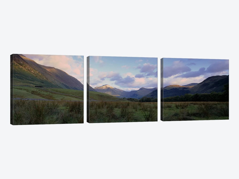 Narrow Valley Landscape, Glen Nevis, Highlands, Scotland, United Kingdom by Panoramic Images 3-piece Canvas Art
