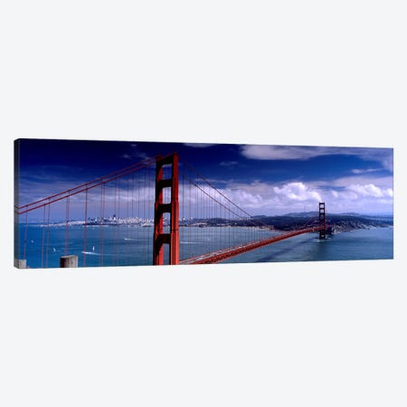 Bridge Over A River, Golden Gate Bridge, San Francisco, California, USA Canvas Print #PIM4967} by Panoramic Images Canvas Art Print