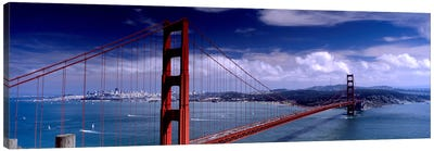 Bridge Over A River, Golden Gate Bridge, San Francisco, California, USA Canvas Art Print