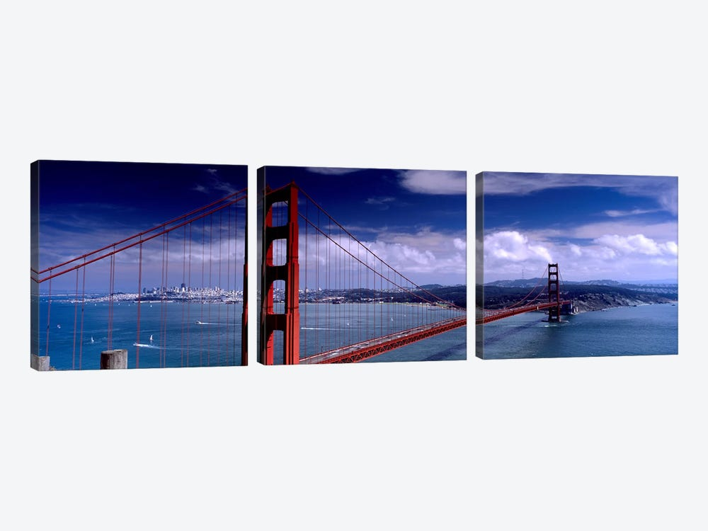 Bridge Over A River, Golden Gate Bridge, San Francisco, California, USA by Panoramic Images 3-piece Art Print