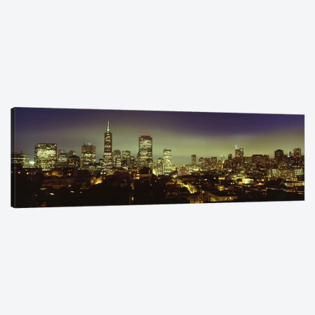 Financial District Skyline At Night, San Francisco, California, USA Canvas Print #PIM4969} by Panoramic Images Canvas Artwork