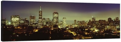 Financial District Skyline At Night, San Francisco, California, USA Canvas Print #PIM4969