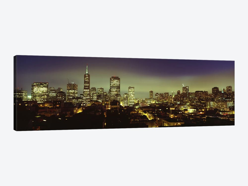 Financial District Skyline At Night, San Francisco, California, USA by Panoramic Images 1-piece Canvas Art Print