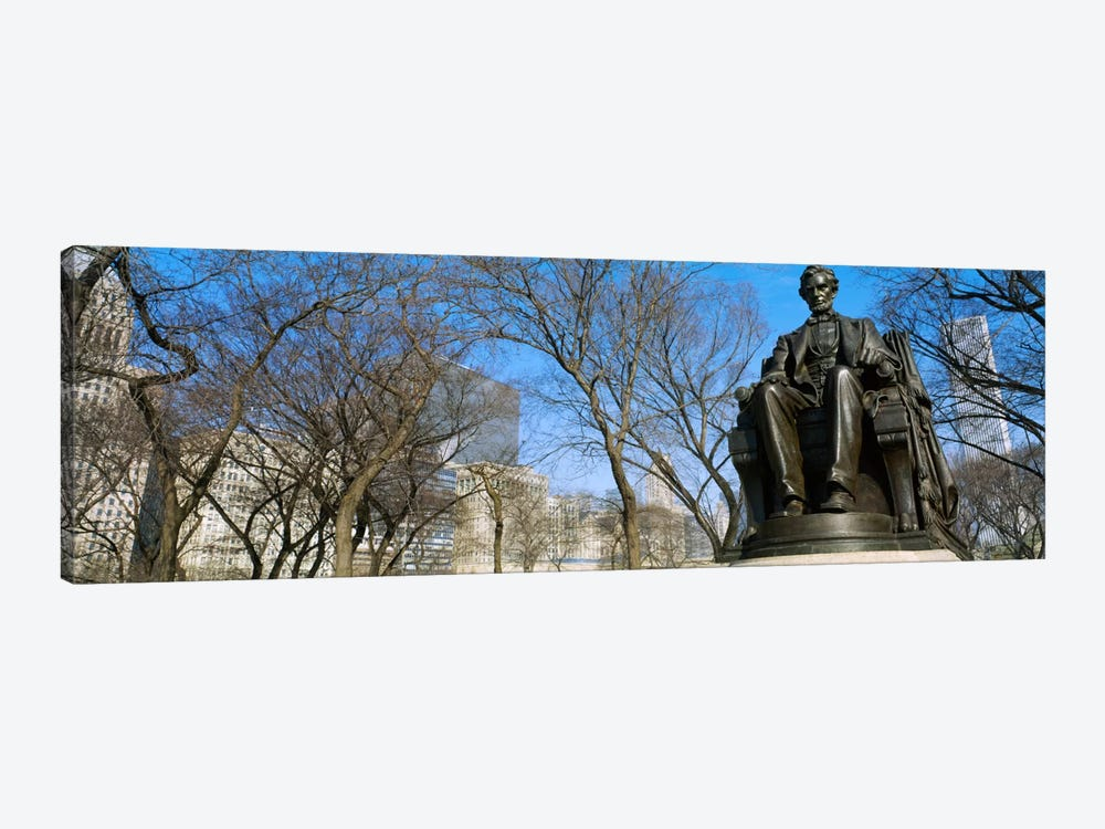 Low angle view of a statue of Abraham Lincoln in a park, Grant Park, Chicago, Illinois, USA by Panoramic Images 1-piece Canvas Artwork
