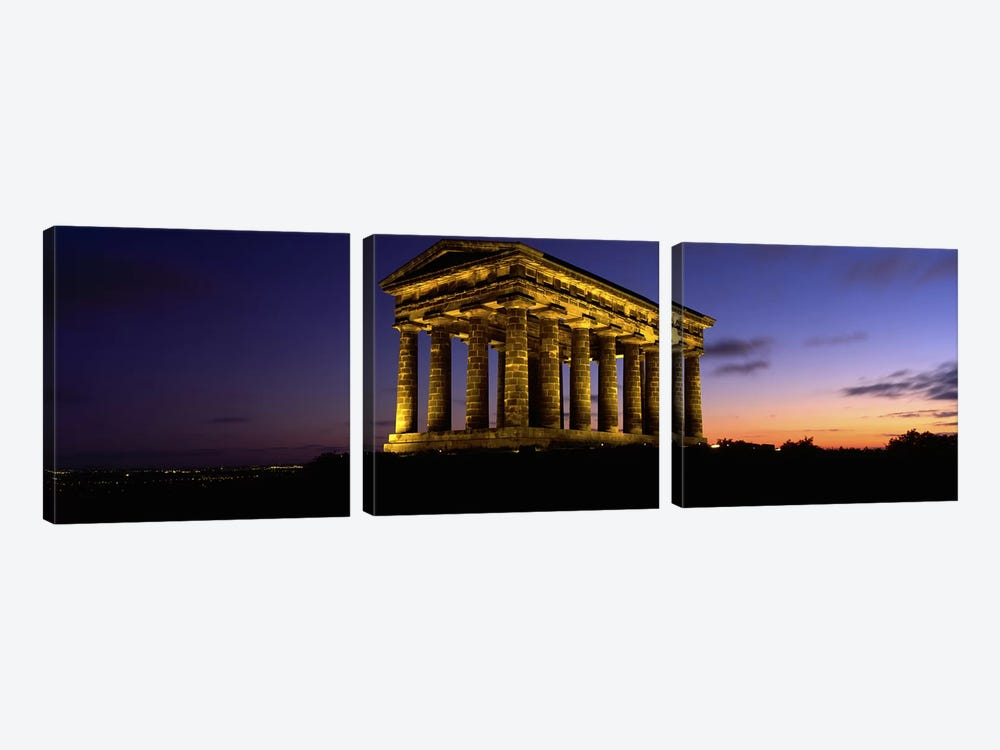 Low Angle View Of A Building, Penshaw Monument, Durham, England, United Kingdom by Panoramic Images 3-piece Canvas Print