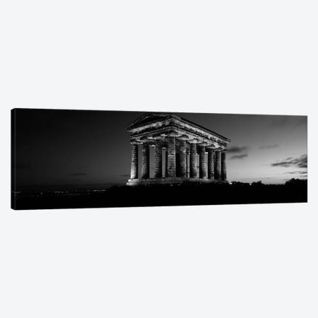 Low Angle View of A Building, Penshaw Monument, Durham, England, United Kingdom (black & white) Canvas Print #PIM4974bw} by Panoramic Images Canvas Artwork