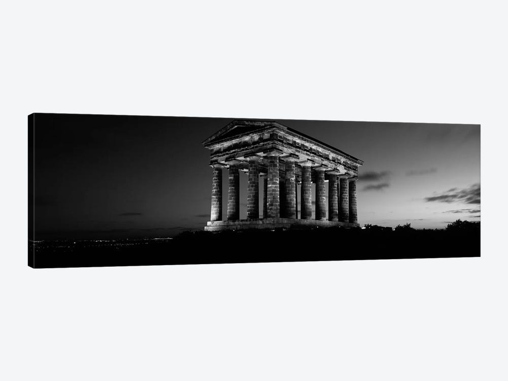 Low Angle View of A Building, Penshaw Monument, Durham, England, United Kingdom (black & white) by Panoramic Images 1-piece Canvas Wall Art