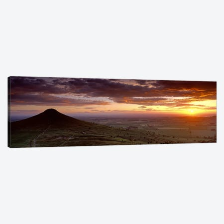 Silhouette Of A Hill At Sunset, Roseberry Topping, North Yorkshire, Cleveland, England, United Kingdom Canvas Print #PIM4976} by Panoramic Images Canvas Wall Art