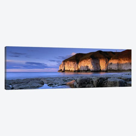 Coastal Cliffs, Thornwick Bay, Yorkshire, England, United Kingdom Canvas Print #PIM4981} by Panoramic Images Canvas Wall Art