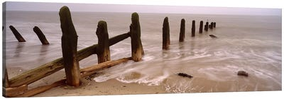 Posts On The Beach, Spurn, Yorkshire, England, United Kingdom Canvas Art Print