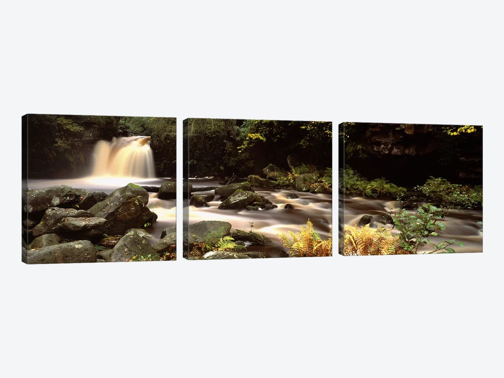 Blurred Motion View Of Flowing Water, Thomason Foss, North York Moors, North Yorkshire, England by Panoramic Images 3-piece Art Print