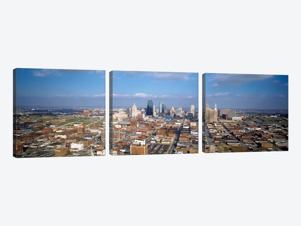 Buildings in a city, Hyatt Regency Crown Center, Kansas City, Jackson County, Missouri, USA by Panoramic Images 3-piece Canvas Artwork
