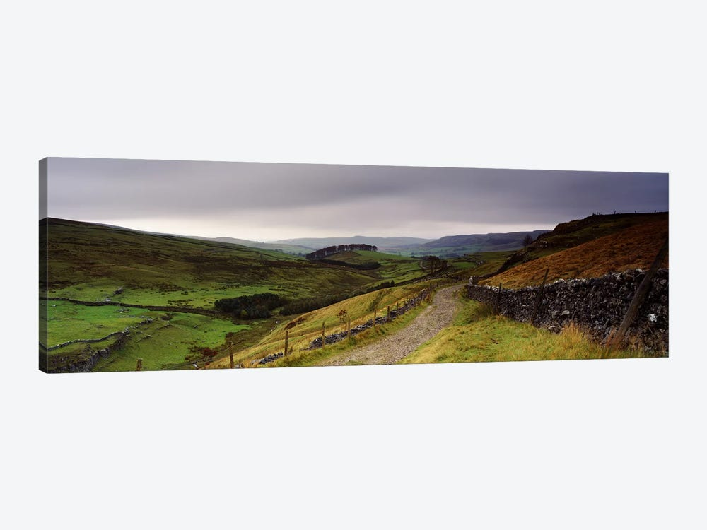 Upper Valley Landscape, Ribblesdale, Yorkshire, England, United Kingdom by Panoramic Images 1-piece Canvas Art Print