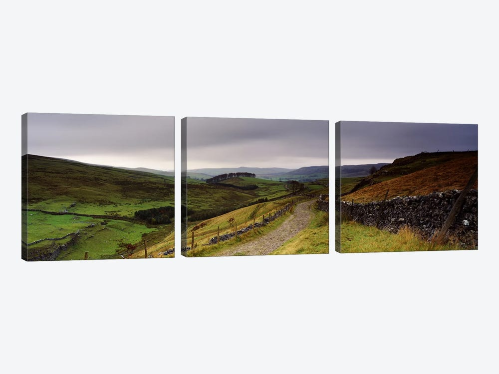 Upper Valley Landscape, Ribblesdale, Yorkshire, England, United Kingdom by Panoramic Images 3-piece Art Print