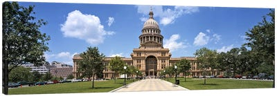 Facade of a government building, Texas State Capitol, Austin, Texas, USA Canvas Art Print
