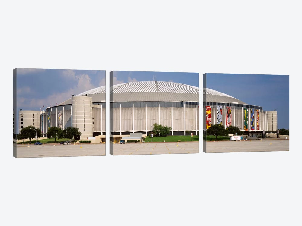 Baseball stadium, Houston Astrodome, Houston, Texas, USA by Panoramic Images 3-piece Canvas Art Print