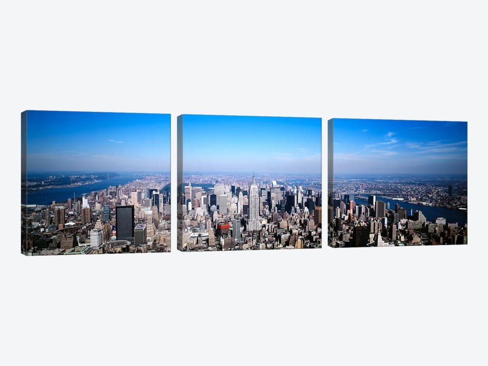 Aerial View, Midtown, New York City, New York, USA by Panoramic Images 3-piece Canvas Art