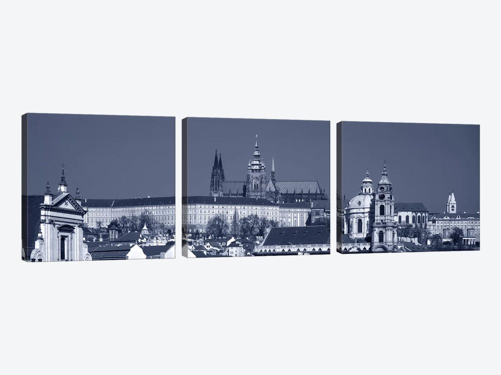 Buildings In A City, Hradcany Castle, St. Nicholas Church, Prague, Czech Republic by Panoramic Images 3-piece Canvas Art