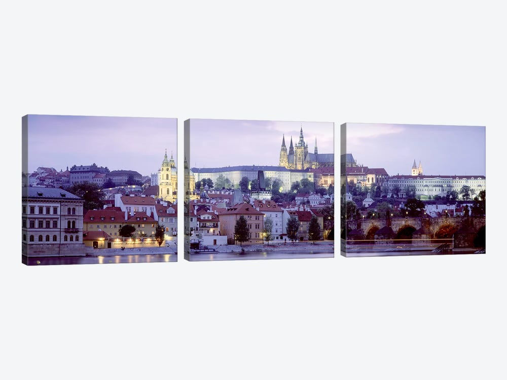 Low-Angle View Of Mala Strana (Lesser Town), Prague, Czech Republic by Panoramic Images 3-piece Canvas Artwork