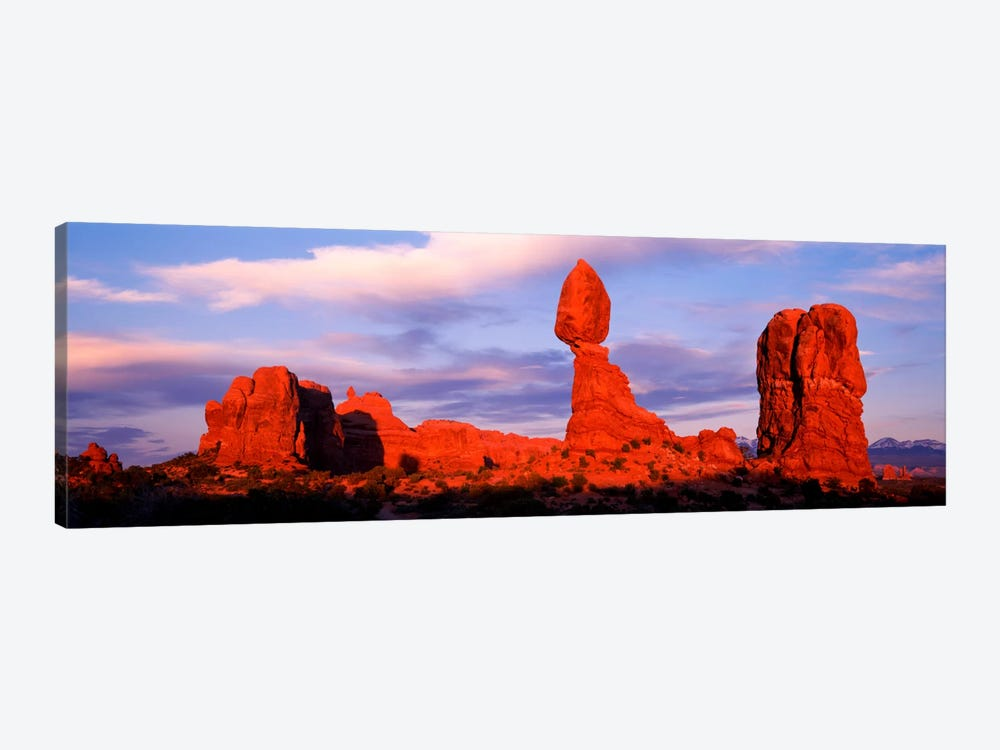 Balanced Rock (middle), Arches National Park, Grand County, Utah, USA 1-piece Canvas Artwork