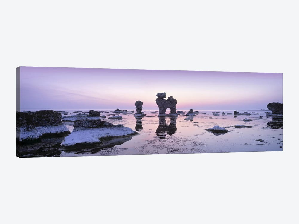Rauks (Sea Stacks) On The Beach, Faro, Gotland, Sweden by Panoramic Images 1-piece Canvas Art