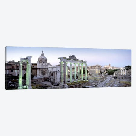 Ruins of an old building, Rome, Italy Canvas Print #PIM5013} by Panoramic Images Art Print