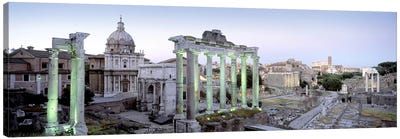 Ruins of an old building, Rome, Italy Canvas Art Print