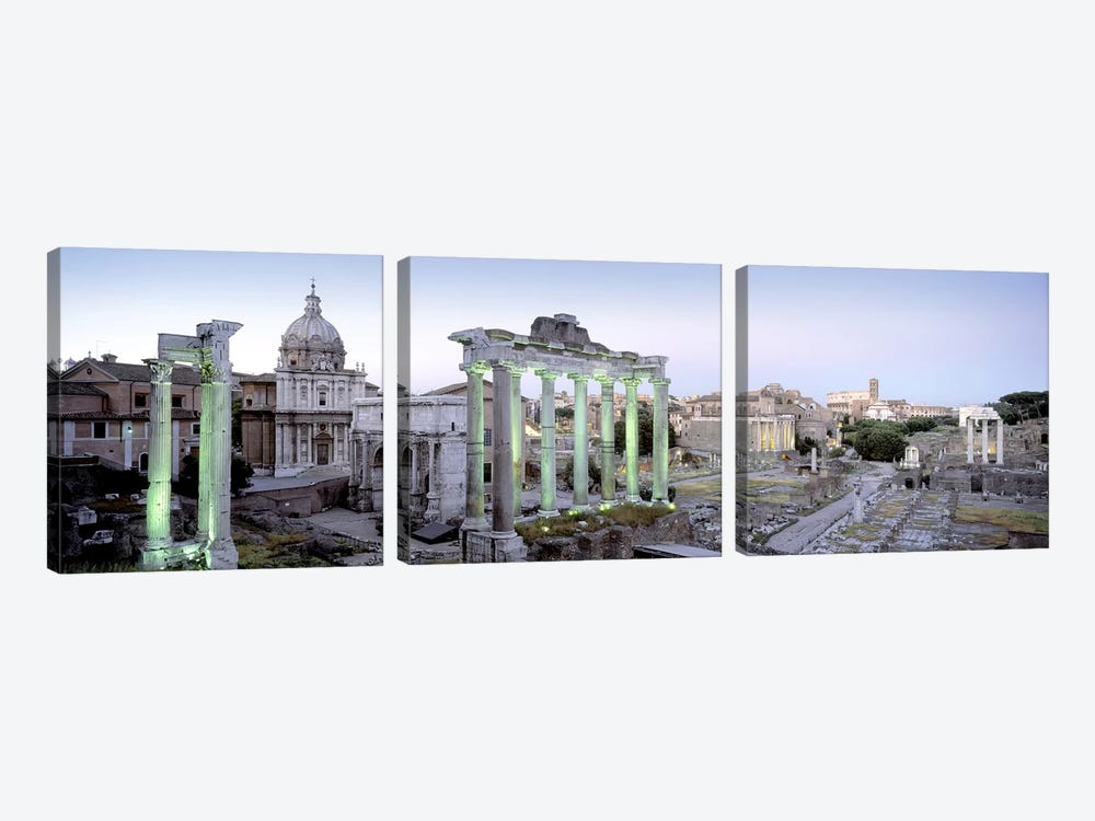 Ruins of an old building, Rome, Italy by Panoramic Images 3-piece Canvas Artwork