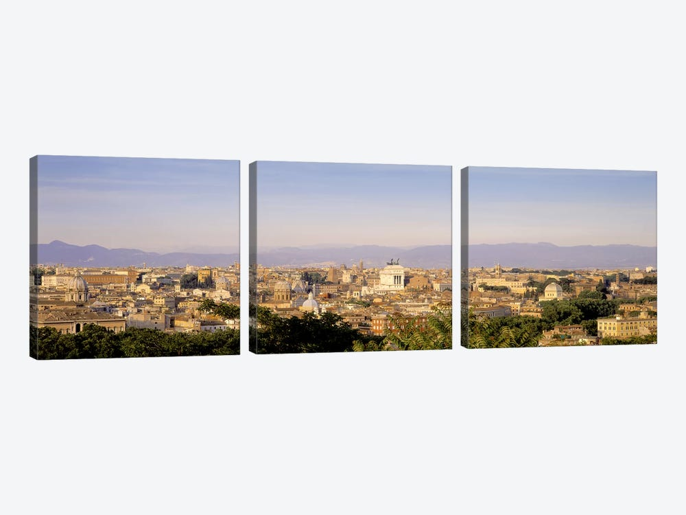 High-Angle View, Rome, Lazio, Italy by Panoramic Images 3-piece Art Print