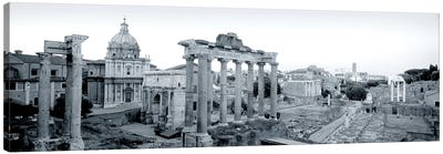 Ruins Of An Old Building, Rome, Italy #2 Canvas Art Print